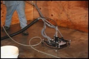 Interior concrete pressure washing